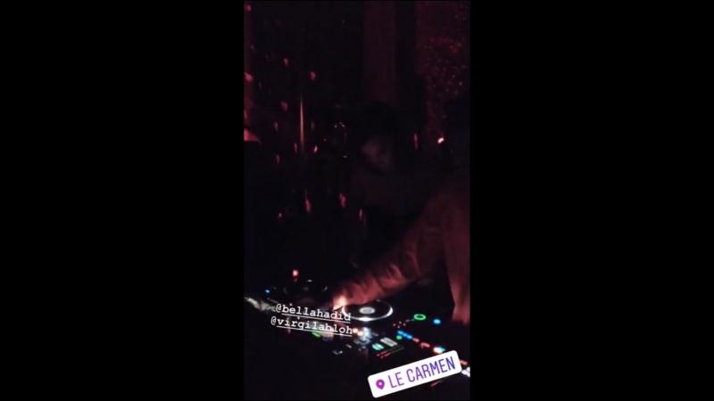 Вечеринка брендов «Off-White» и «Chrome Hearts», Париж (25.09.18)