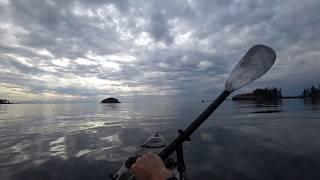 Рыбалка на Каяке Океан и Огромный Рокфиш часть-1