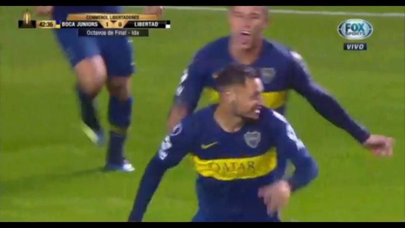 Gol de Zarate - Boca Juniors vs Libertad 2-0 - Copa Libertadores 2018 HD