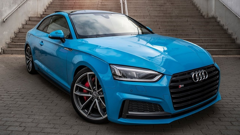 MESMERIZING 2018 AUDI S5 in RIVIERA BLUE - Best color? The Coupé in detail (V6Turbo/354hp)