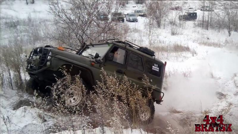 Прокатка трассы для джип-спринта Снежный перевал г.Братск
