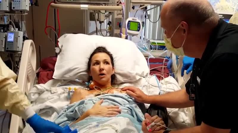 Woman takes her first unassisted breath after lung transplant