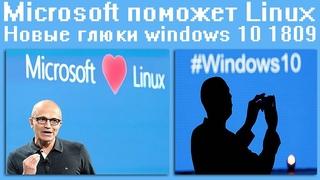 #Microsoft поможет#Linux,Новые глюки #windows 10 1809