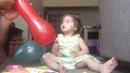 Blowing up the balloon for Toddler | Princess Liana