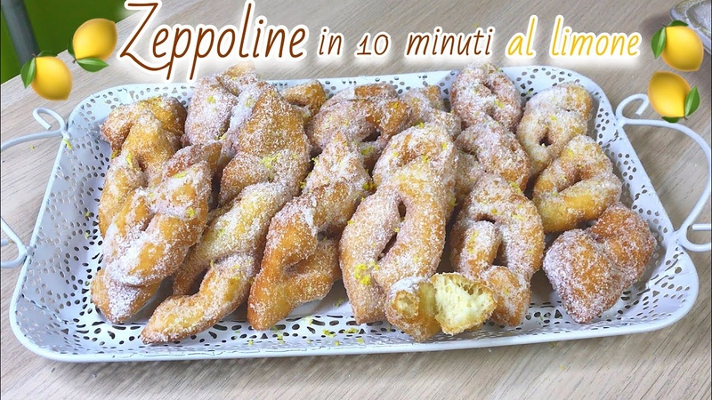 ZEPPOLINE AL LIMONE ISTANTANEE IN 10 MINUTI ricetta veloce INSTANT LEMON ZEPPOLE Tutti a Tavola