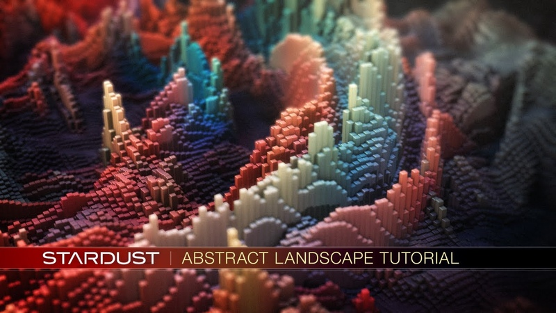 Stardust Abstract Landscape Tutorial