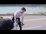 [WEIBO] 180906 HK Tourism Board - - Hong Kong Promotional Video Filming - Biking Behind th