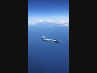 Су-27 выдавливает F-15