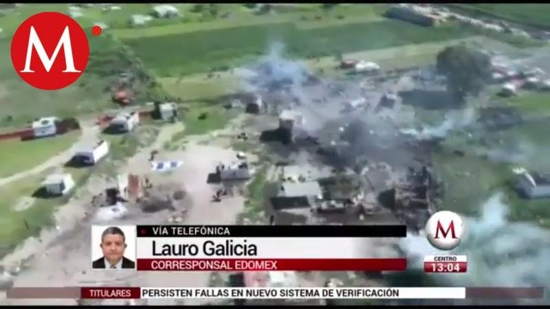 Explosiones en Tultepec dejan al menos 19 muertos