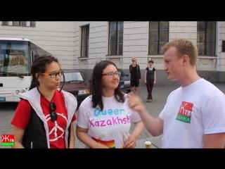 казашки на гей параде в Киеве