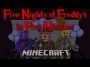 Five Nights at Freddy's in Five Minutes - A Minecraft Roller Coaster Music Video FNAF