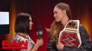 """The «Jean»: Ronda Rousey rips into """"The Man,"""" Becky Lynch: Raw, Nov. 12, 2018"""