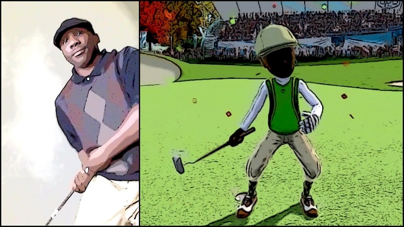 Kinect Sports 2 - ActionCam Golf Swing Like Charles Barkley | I'm Better than Tiger Woods LOL