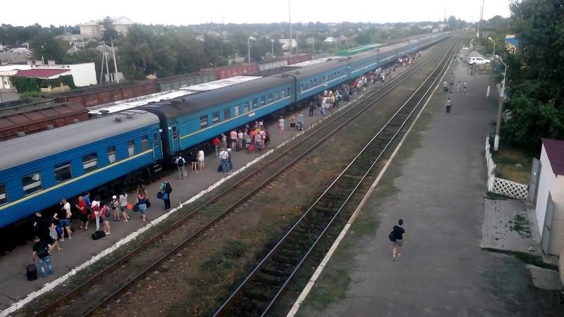 2ТЭ116-1149969 с поездом Лисичанск-Хмельницкий