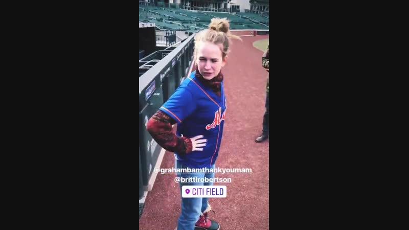 Britt Robertson via Matt McInns IG Story