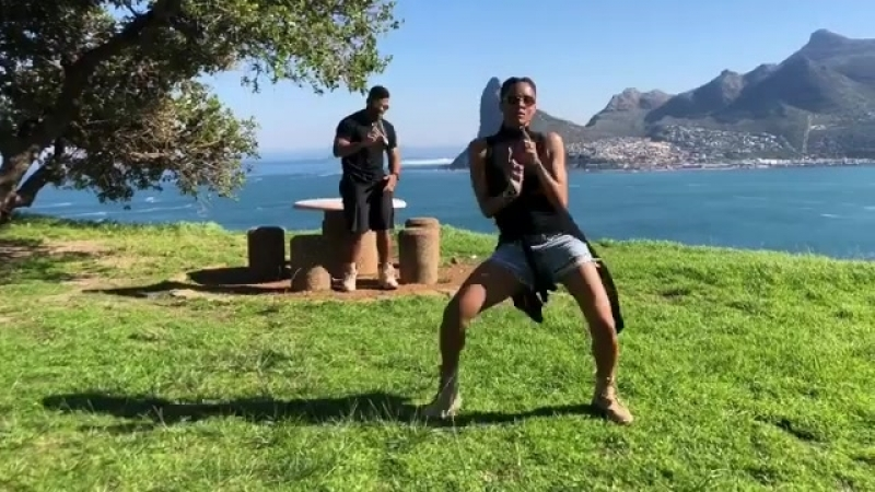 """Ciara on Instagram_ """"When you and Bae DoTheShiggy On Top of Cape Town on ur Honeymoon. @DangeRussW"""