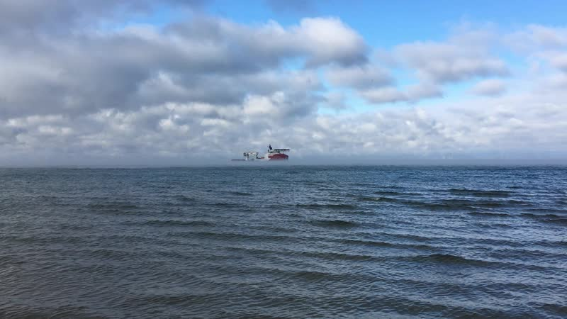 На рейде Анапы - корабль-трубоукладчик Турецкого потока