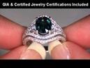 GIA CERT 4 52 Carat Blue Sapphire Diamond Engagement Ring