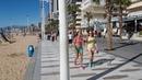 Бенидорм зимой, 15 февраля 2018 г. / Benidorm Levante beach. 15 February 2018. From McDonalds to Tiki Beach bar.