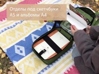 Обзор рюкзака для художника