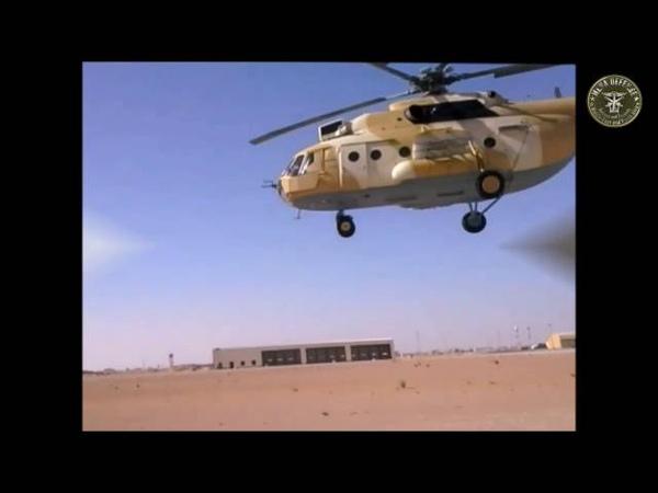 Test Mil Mi171Sh Ouargla تجربة الهليكوبتر مي 171 في قاعدة ورقلة بع1
