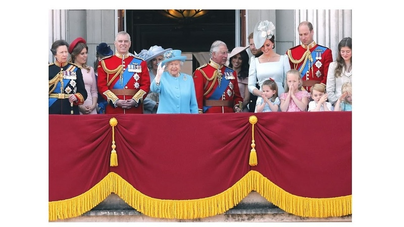 QUEEN ELIZABETH and British Royal Family Members Celebrate Trooping the Colour 2018