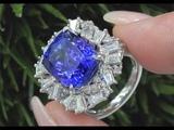 GIA 11.68ct VVS Clarity Top Gem Violet Color Tanzanite &amp Diamond Ring
