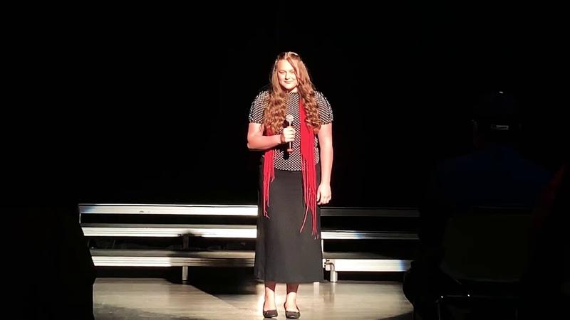 """My 12 yrs old daughter Anastasiya sings """"My Grown Up Christmas List"""""""