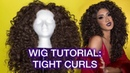 Curling Stacking 70s Disco Diva Hair with a Synthetic Wig
