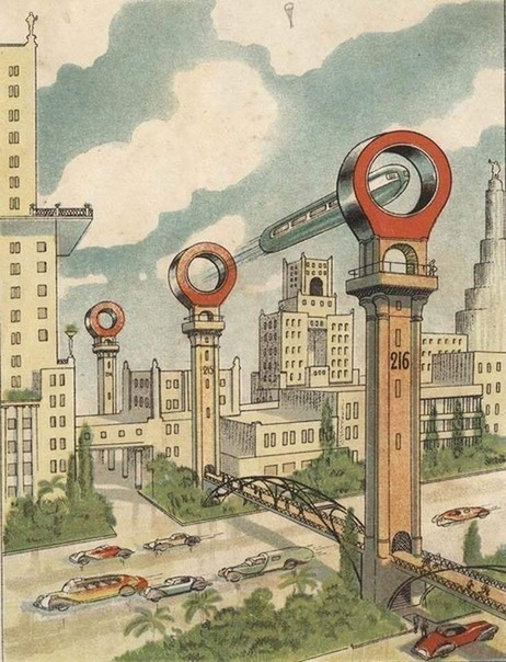 Так в 30-е годы представляли метро будущего в Москве...