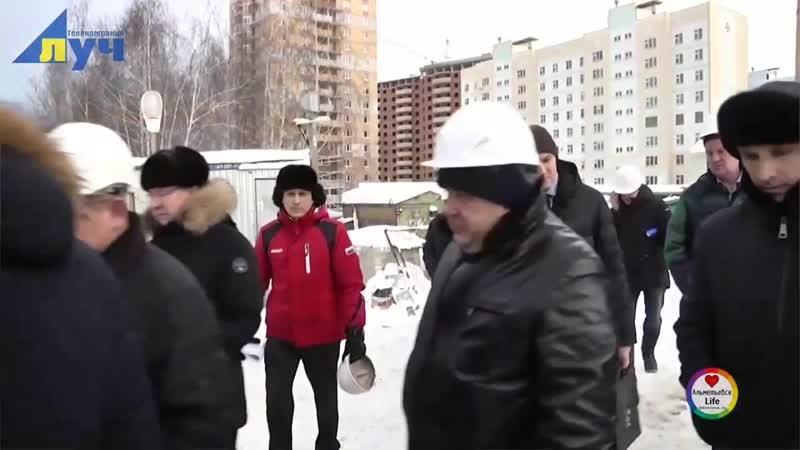 Премьер-министр Республики Татарстан Алексей Песошин посетил строительные объекты в Альметьевске