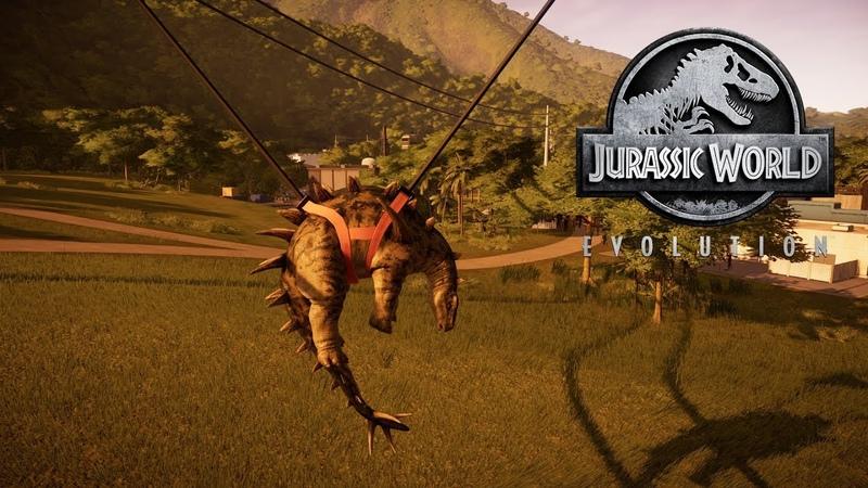 Jurassic World Evolution - Хуаянозавр взбесился и сломал ограждение! 5