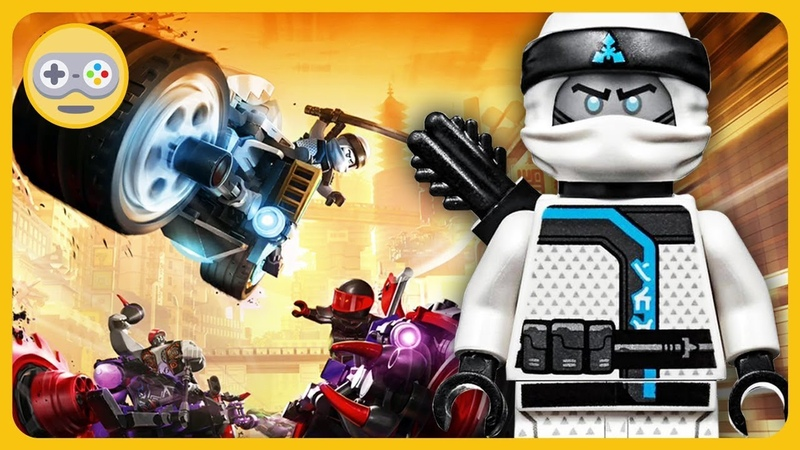 ЛЕГО НИНДЗЯГО * Зейн байкер и гонки на мотоциклах в игре LEGO NINJAGO: Ride Ninja на Kids PlayBox