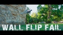 Wallflip hard fail Parkour freerunning Lviv