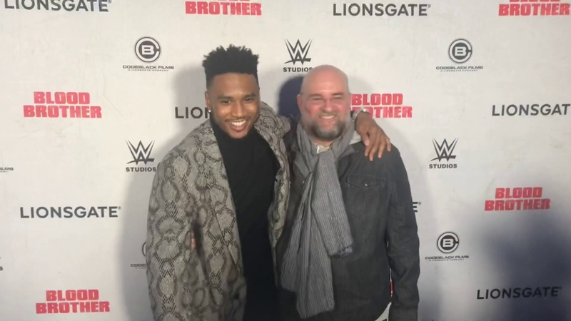 """Trey Songz , Fetty Wap , Fabolous more attend the """" Blood Brother """" Movie Premiere In NYC"""