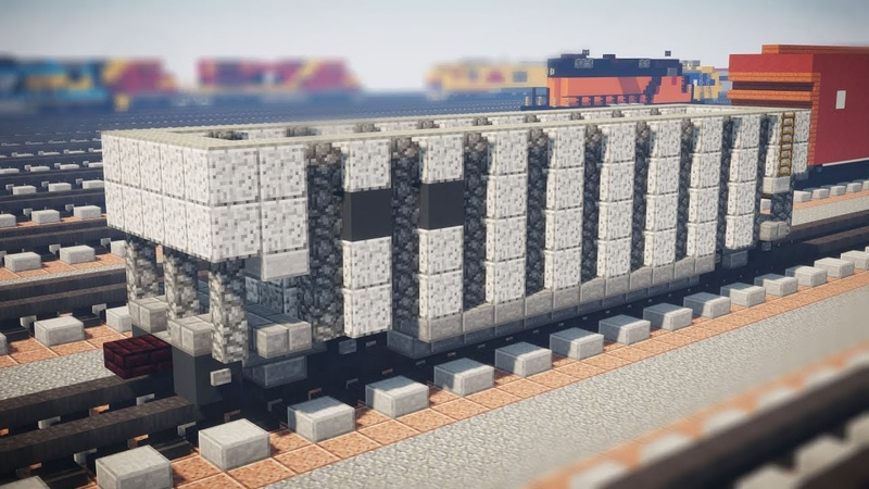 Minecraft Coalporter Bathtub Gondola railcar Tutorial