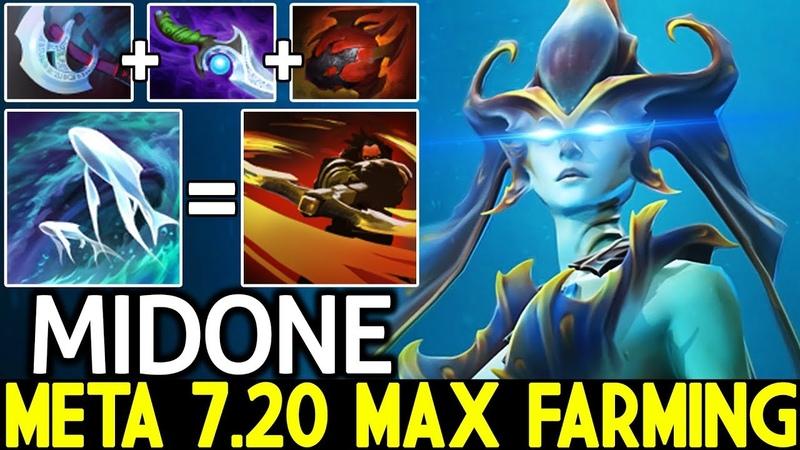 Midone [Naga Siren] Meta Naga is Max Farming New Rework 7.20 Dota 2
