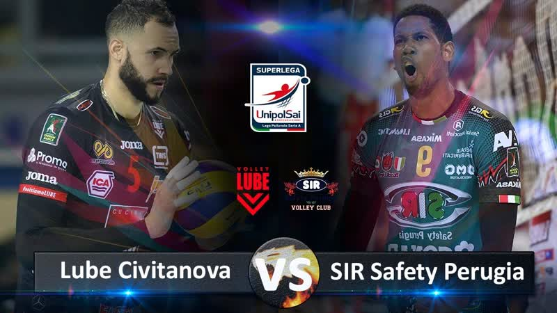 Sir Safety Perugia vs Lube Civitanova Highlights Italian Volleyball Super League