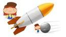 Doctora McWheelie lanza un cohete con un satélite a la órbita