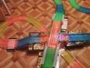Заезд по Magic tracks 360 деталей Mega set с двумя мостами