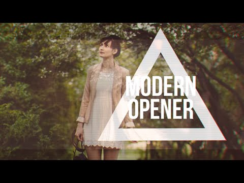 Modern Fashion Opener Fast Glitch Slideshow - After Effects Template