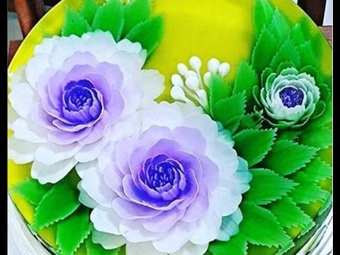 Cách làm rau câu 3d đơn giản và dễ làm tại nhà |Beautiful Gracilaria,3D gracilaria jelly 2