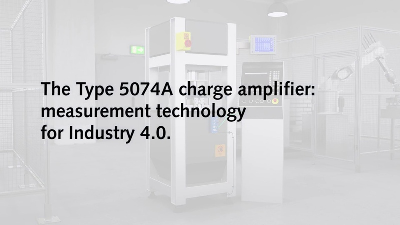 Digital industrial charge amplifier, Type 5074 – Measuring in the Industry 4.0 era