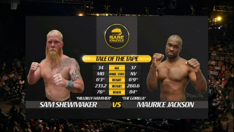 Bare Knuckle Fighting Championship 2 Sam Shewmaker vs Maurice Jackson