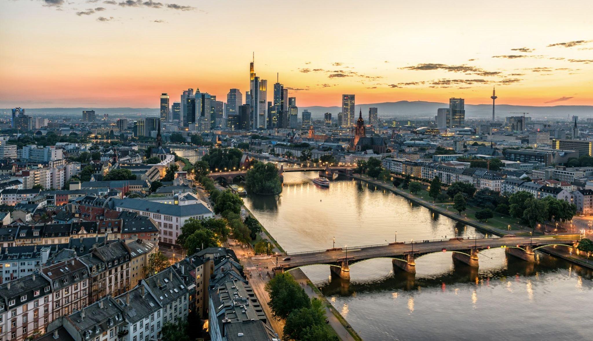 Вечерняя панорама города