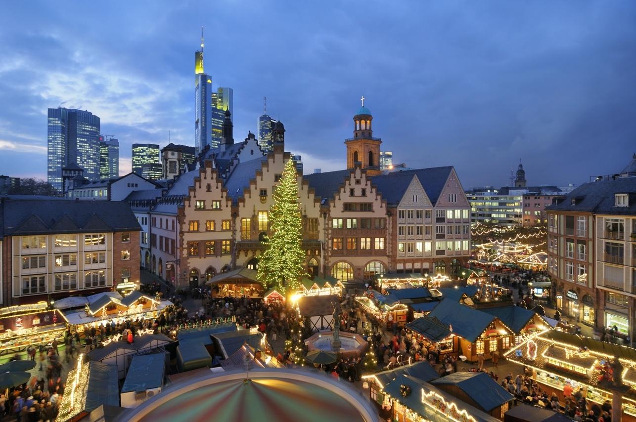 Праздничная неделя в деловом центре Германии