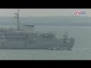 Появилось видео прохода украинских кораблей под Крымским мостом