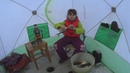 Соня на зимней рыбалке и термос STАNLEY Ловля крупной плотвы на мормышку