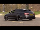 Audi RS6 C7 Avant w Decatted Downpipes Drift Revs Drag Racing