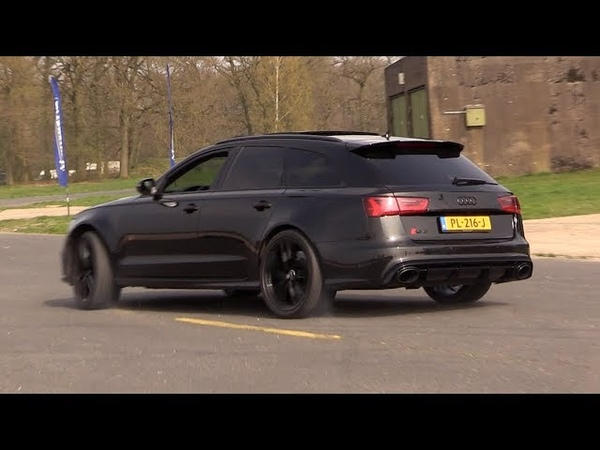 Audi RS6 C7 Avant w Decatted Downpipes - Drift, Revs, Drag Racing!